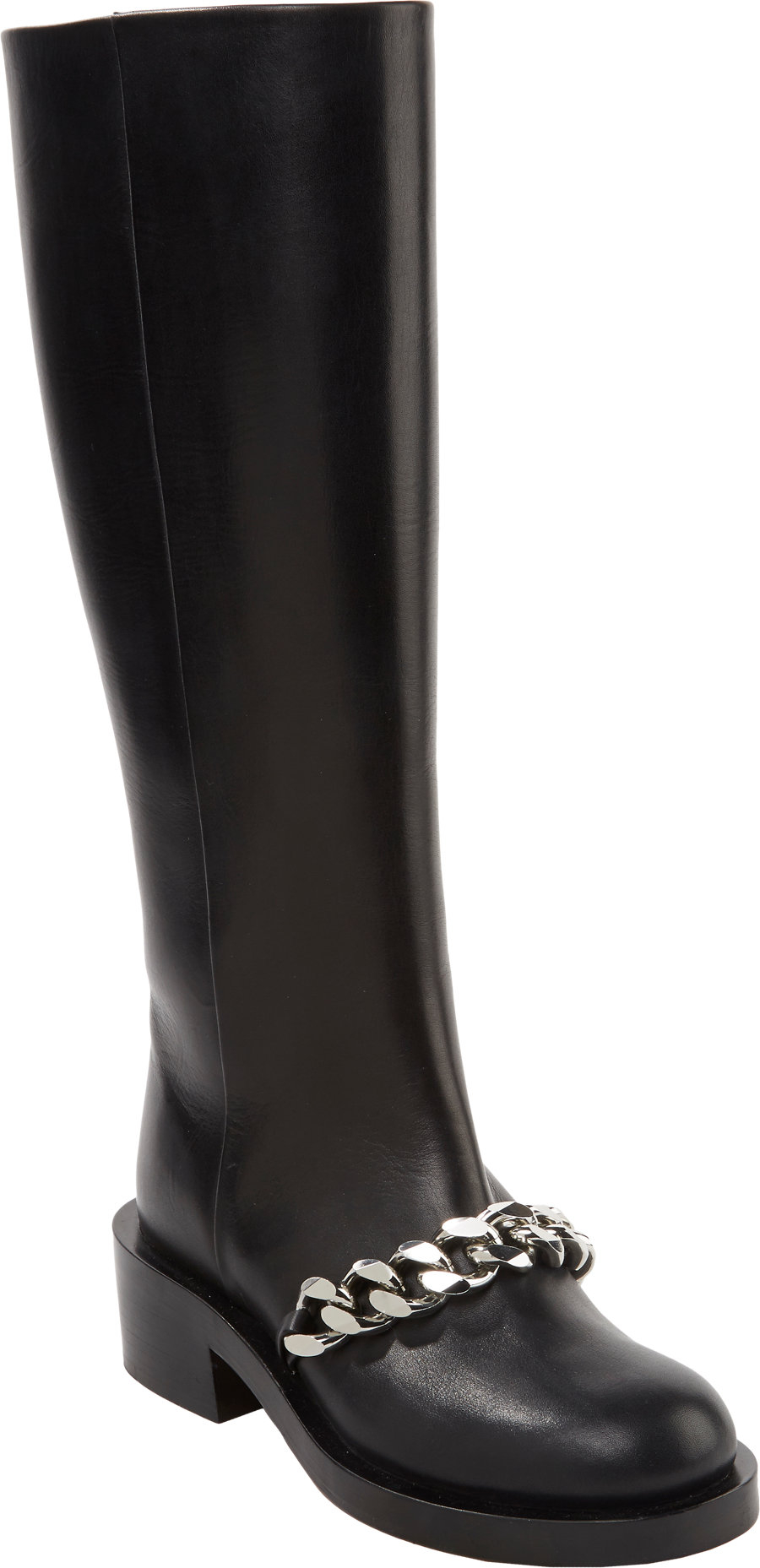 Givenchy Laurana Chain-link Knee Boots in Black | Lyst
