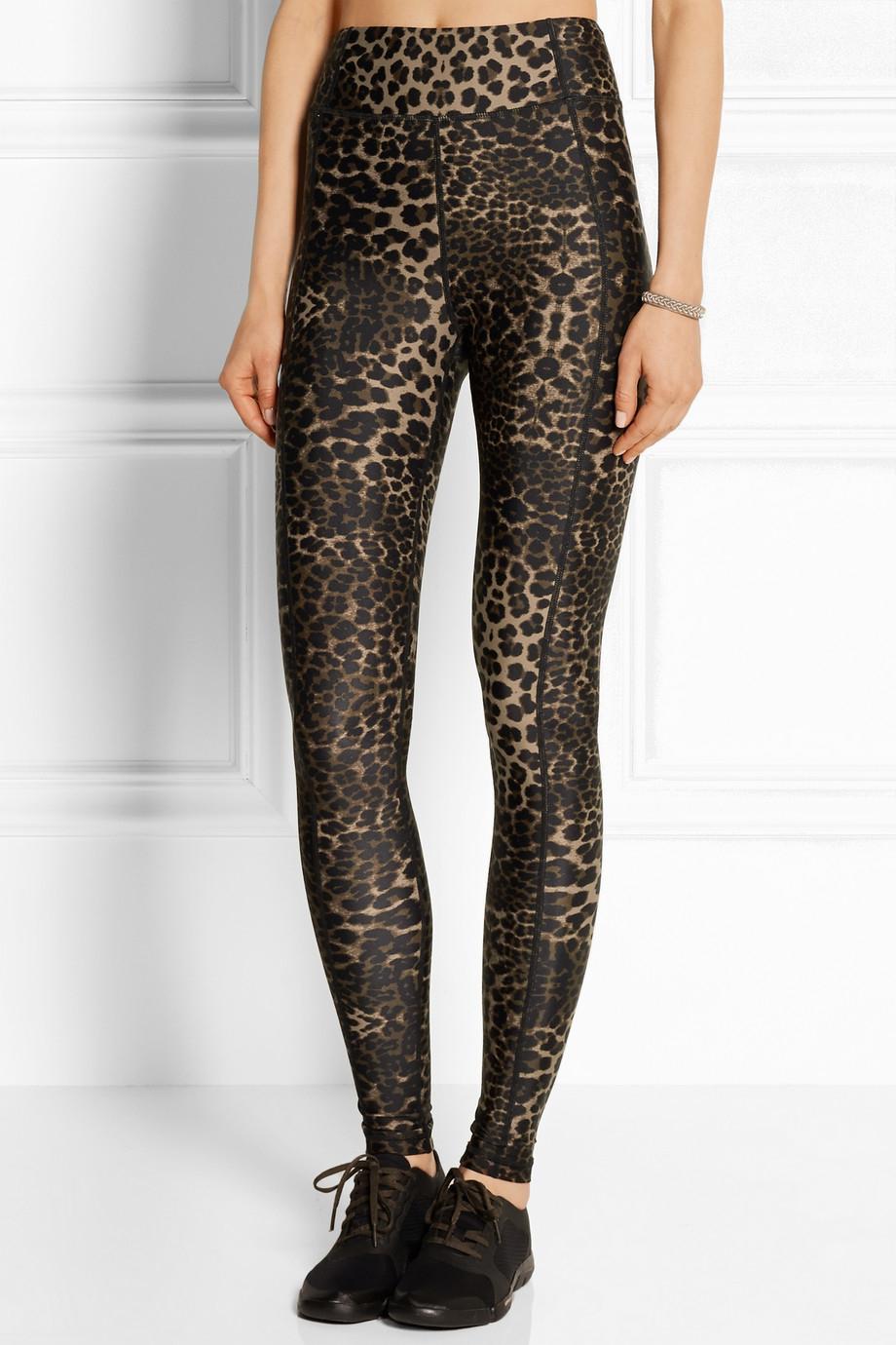 Lyst The Upside Dance Leopard Print Stretch Jersey Leggings