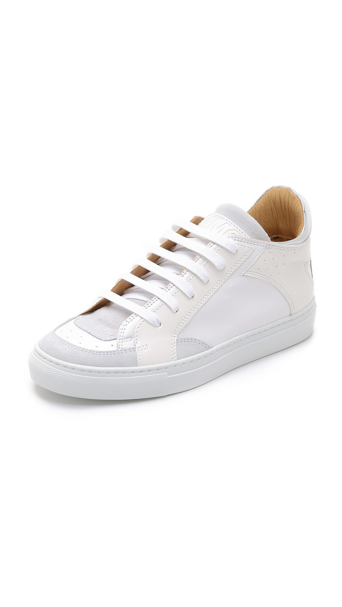 mm6 by maison martin margiela low top sneakers in white lyst