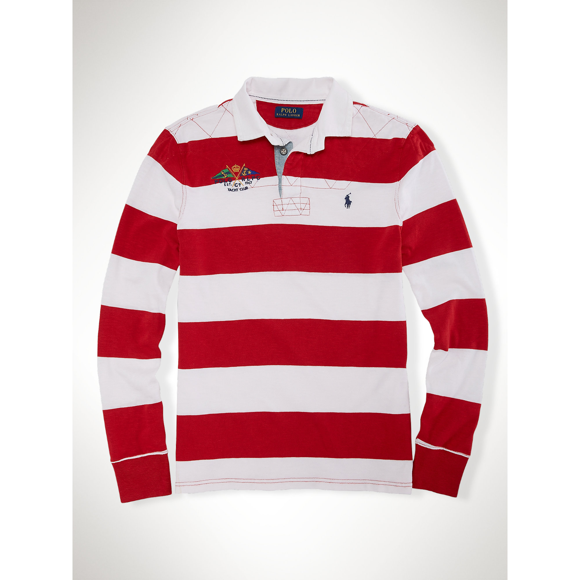 Custom Fit Striped Rugby Shirt