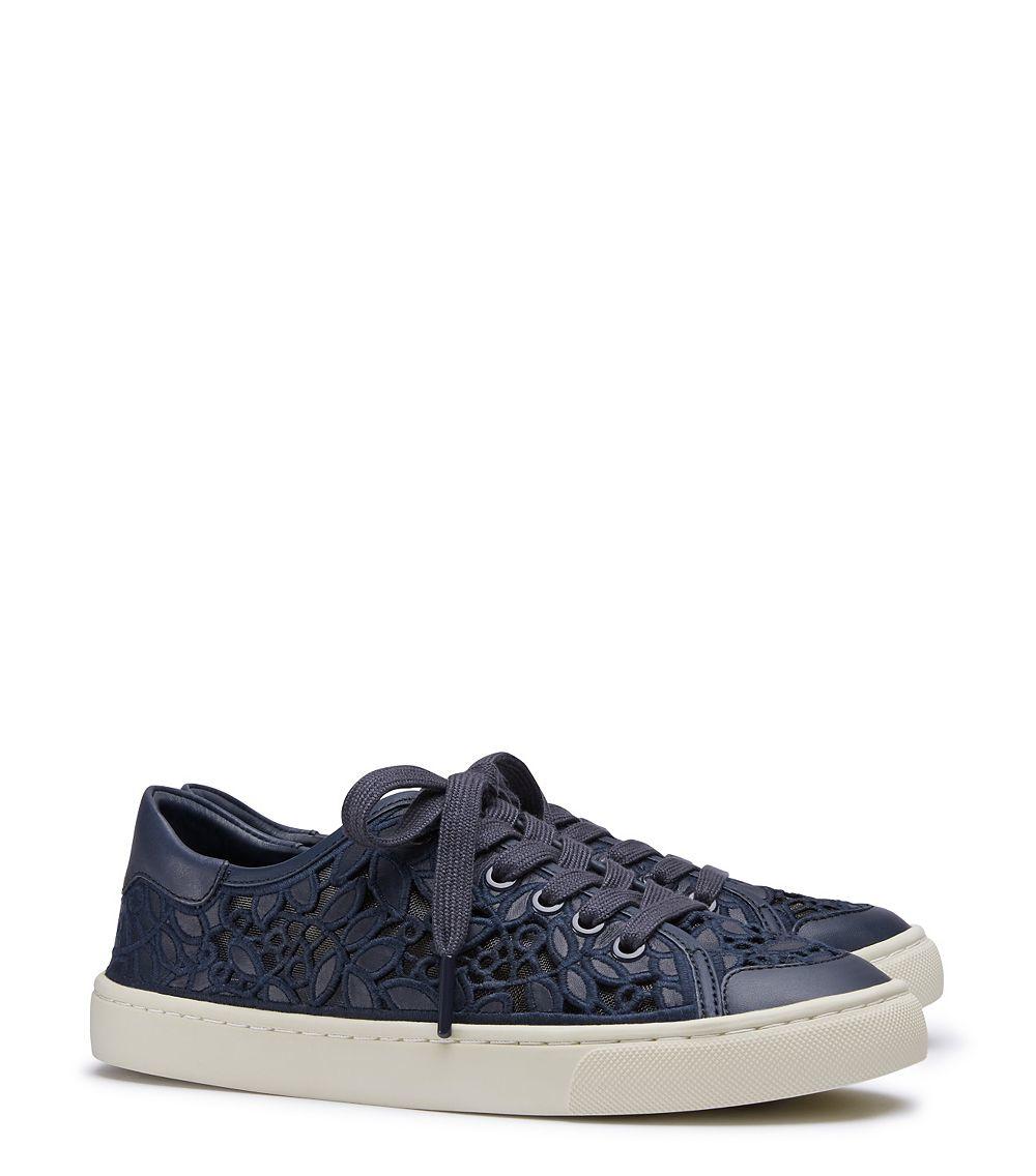 4ba9feedf6a Lyst - Tory Burch Rhea Lace-up Sneaker in Blue