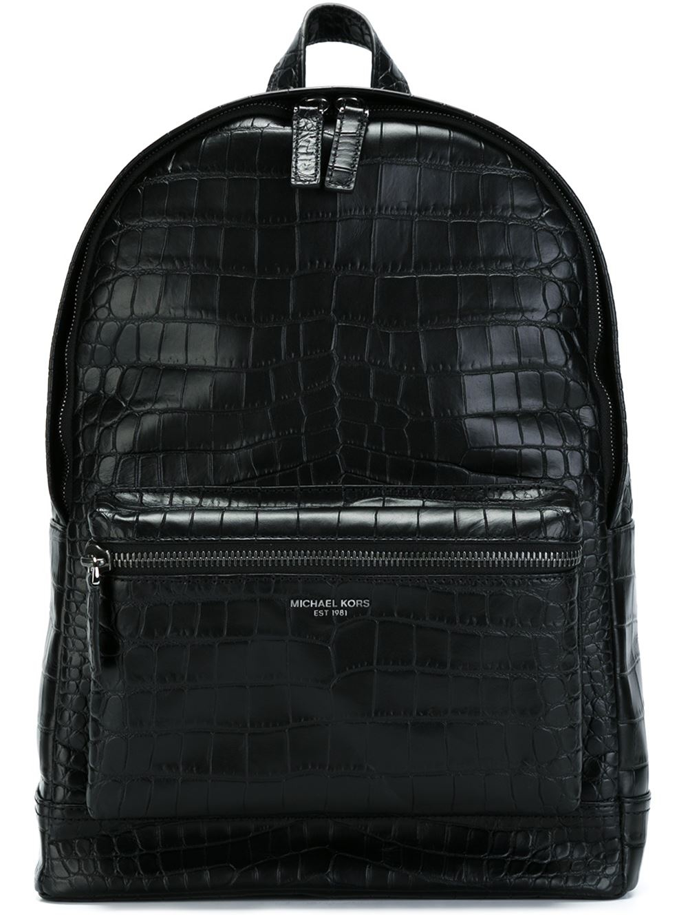 michael kors crocodile embossed backpack in black for men. Black Bedroom Furniture Sets. Home Design Ideas