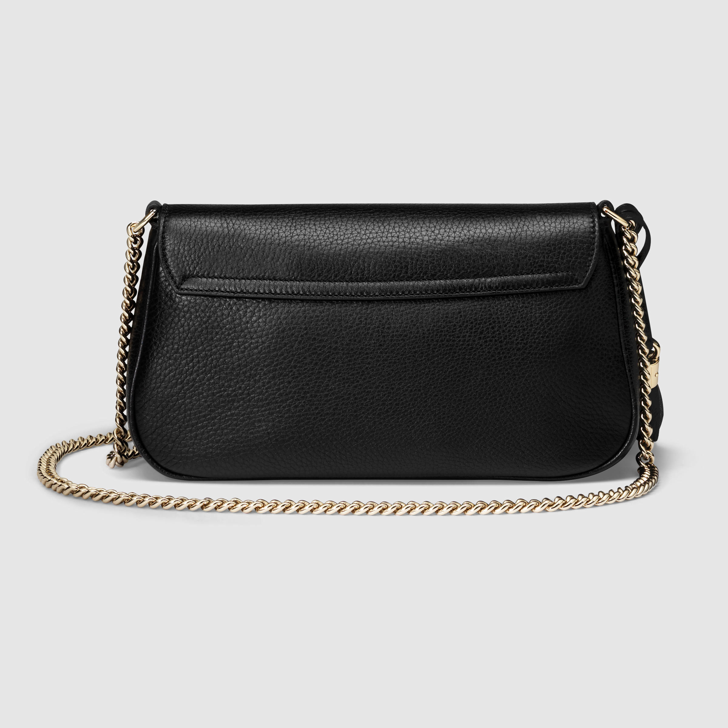 f76881f71323 Gucci Soho Leather Shoulder Bag in Black - Lyst