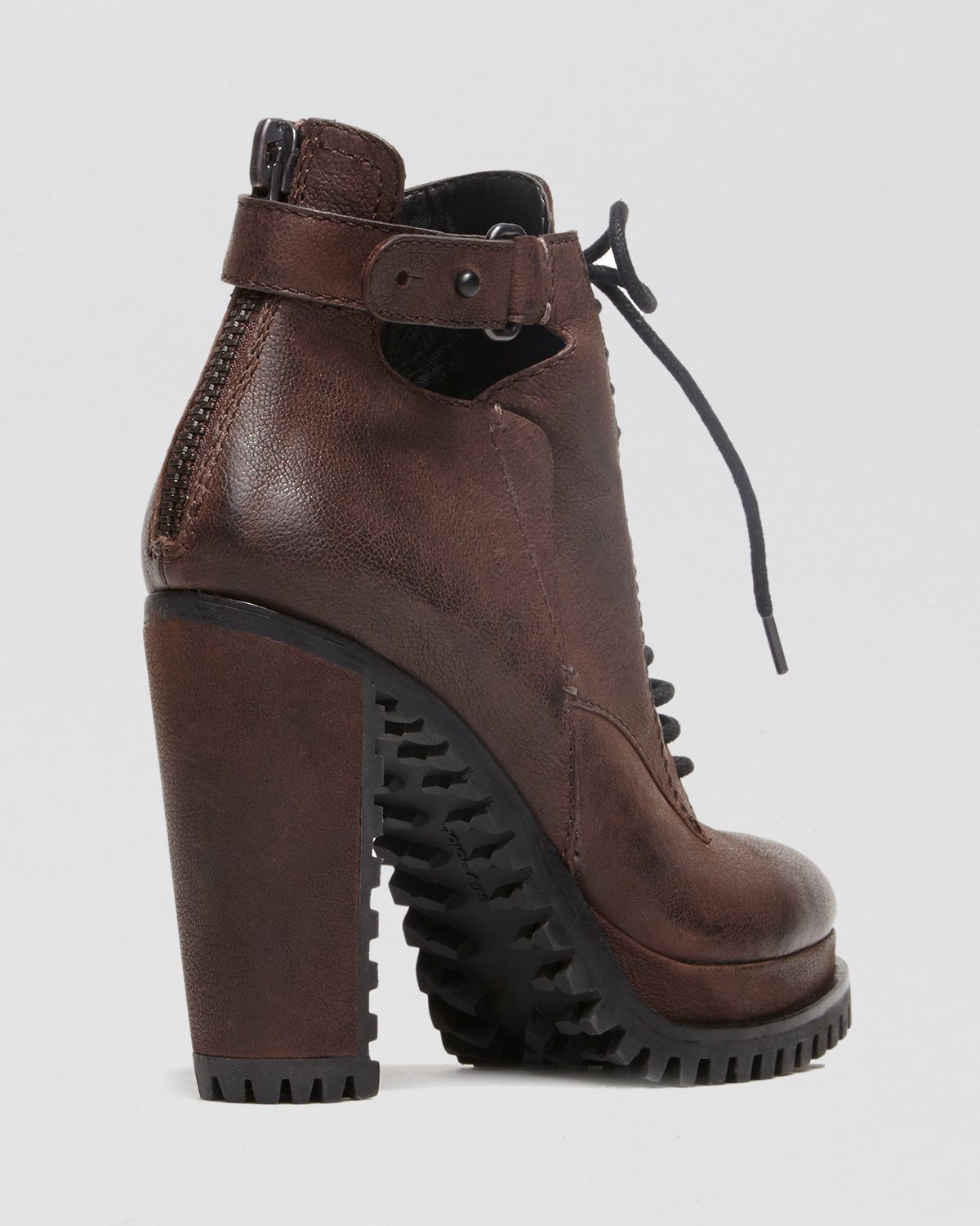 Dolce Vita Lace Up Lug Sole Platform Booties Daytona