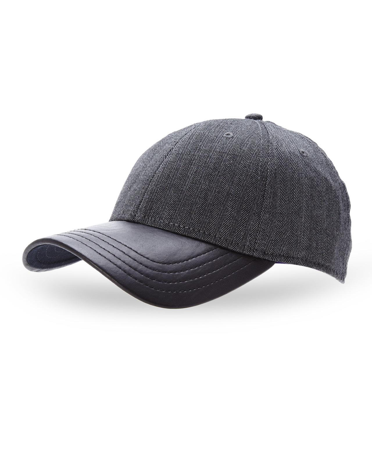 Lyst Gents Herringbone Mixed Media Baseball Cap in Gray 907b0b01571a