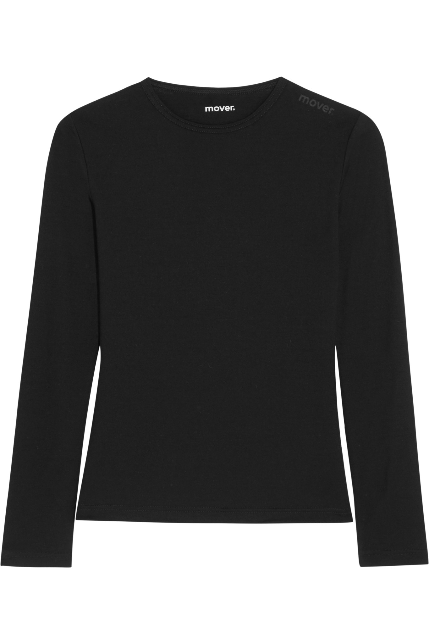 Lyst mover merino wool jersey top in black for Merino wool shirts for travel