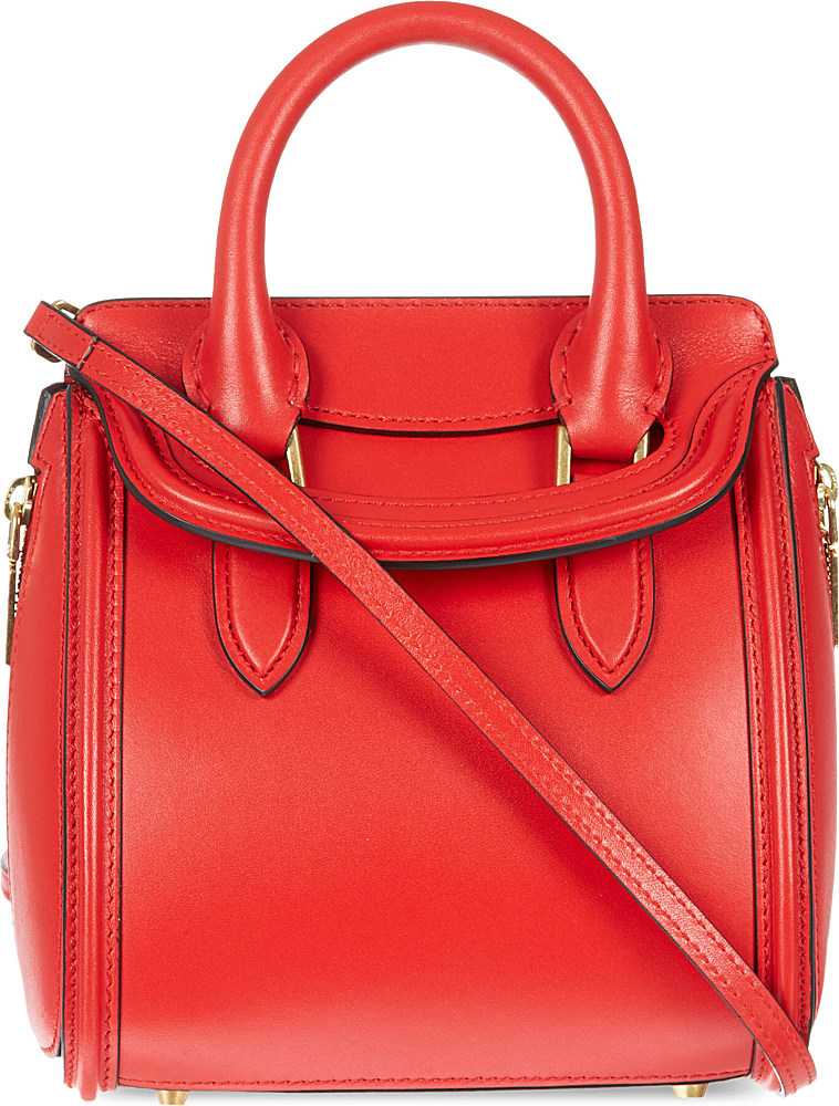 Alexander mcqueen Heroine Mini Tote Bag in Red | Lyst