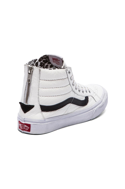 d19da2c8db Lyst - Vans Sk8-Hi Slim Zip Sneaker in White