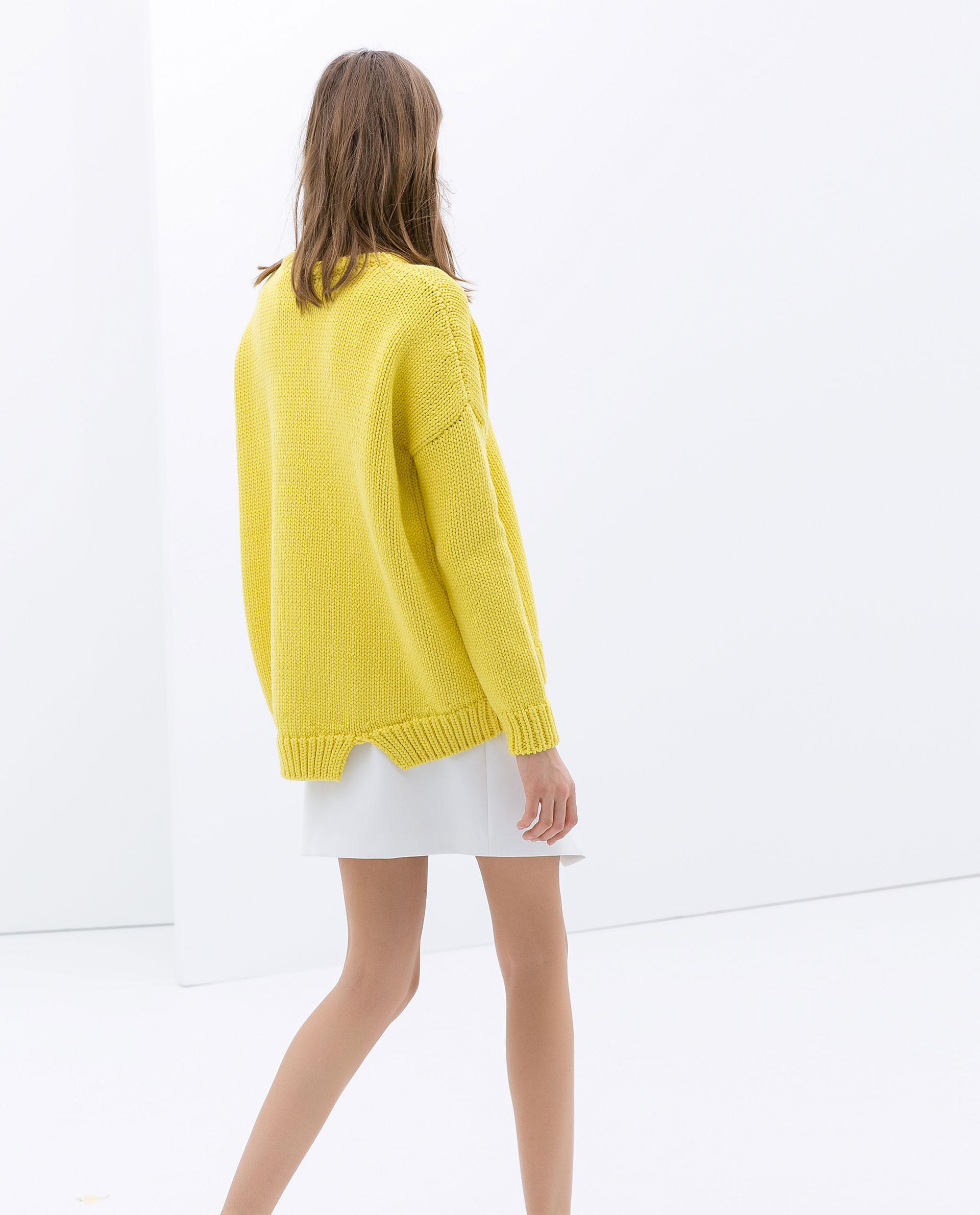 Zara Wrap Around Mini Skirt in White | Lyst