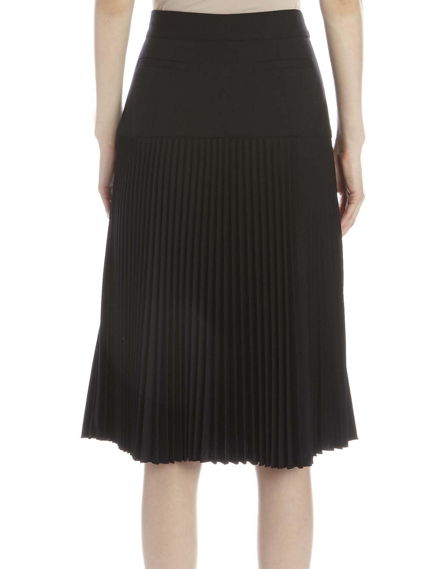 suno pleated midi skirt in black lyst
