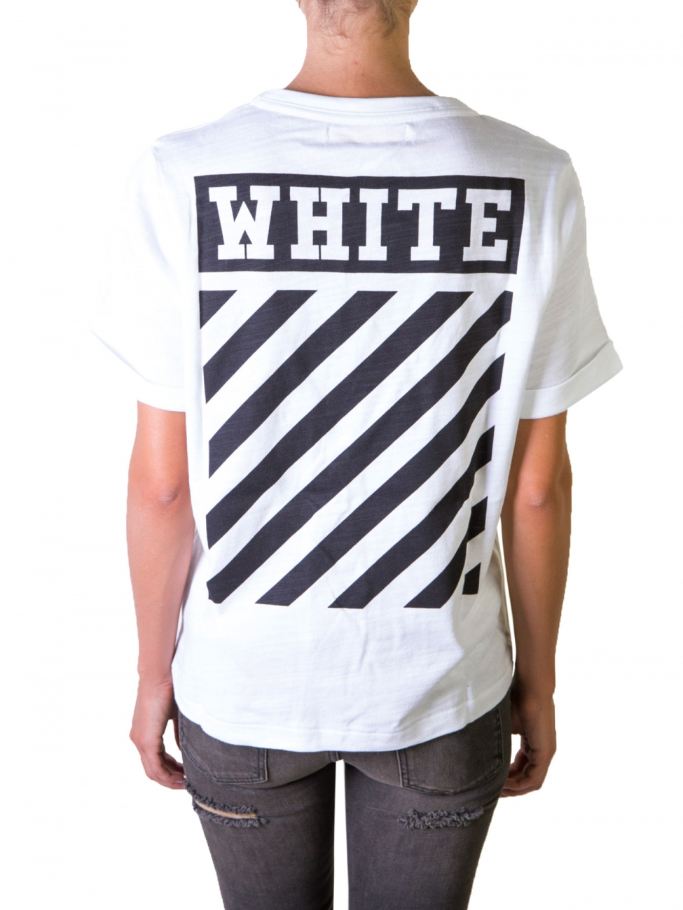 off white c o virgil abloh caravaggio white t shirt in white lyst. Black Bedroom Furniture Sets. Home Design Ideas