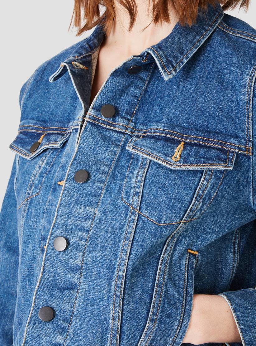 8fca6c85e60 Lyst - Steven Alan Classic Jean Jacket Vintage Wash in Blue