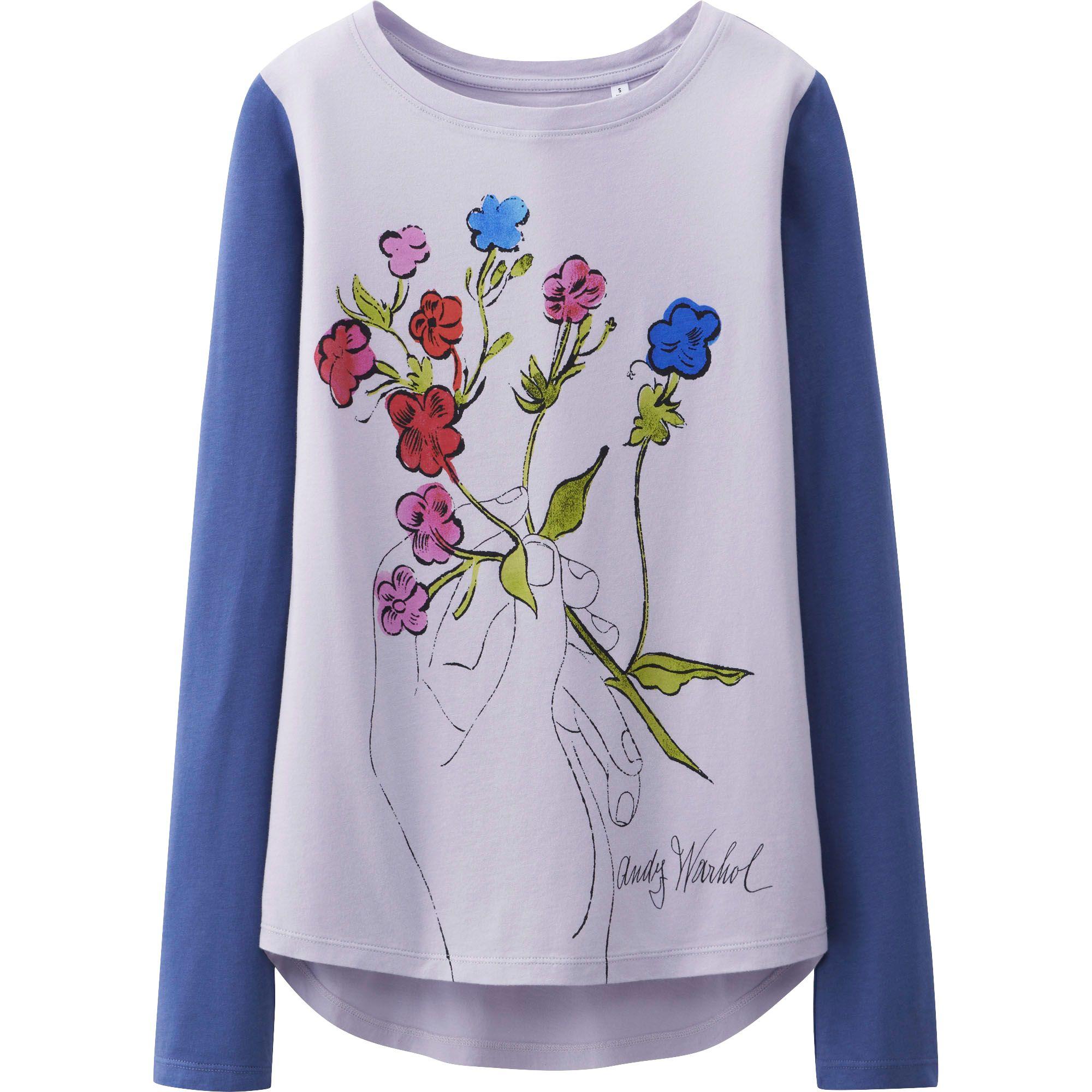 Uniqlo Women Sprz Ny Long Sleeve Graphic T Shirt Andy