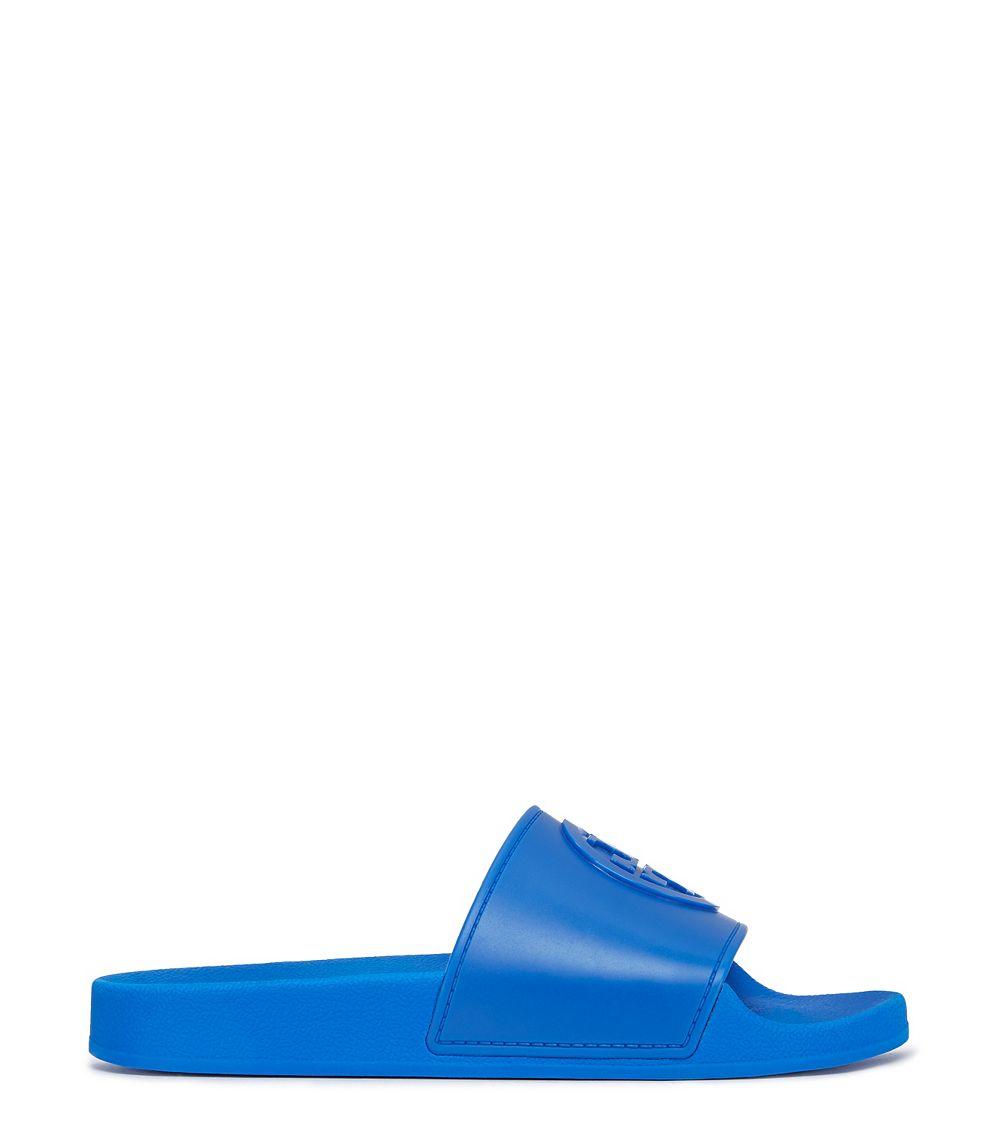 09ddb7e7f6c Lyst - Tory Burch Jelly Flat Slide in Blue
