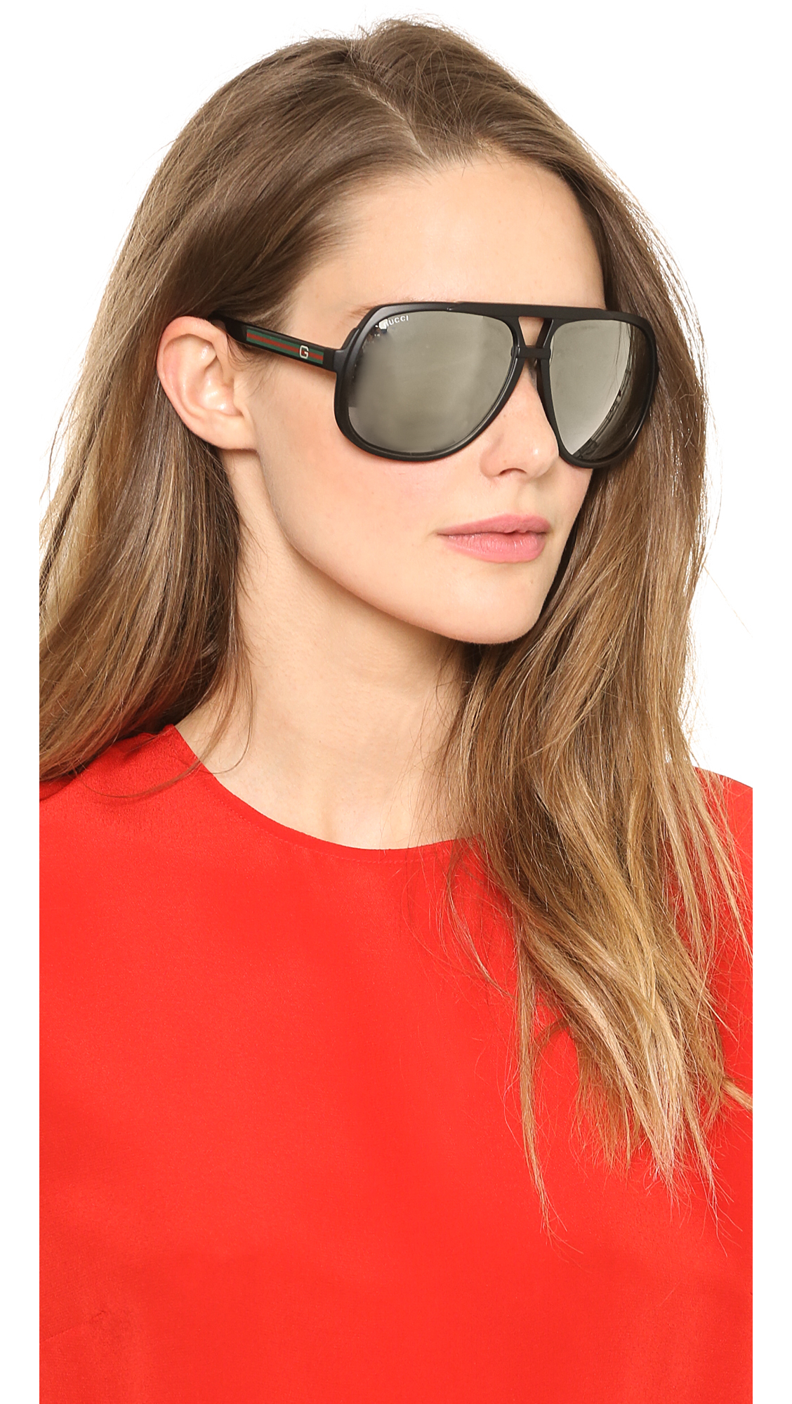Oversized Mirrored Sunglasses  gucci mirrored oversized aviator sunglasses matte black black