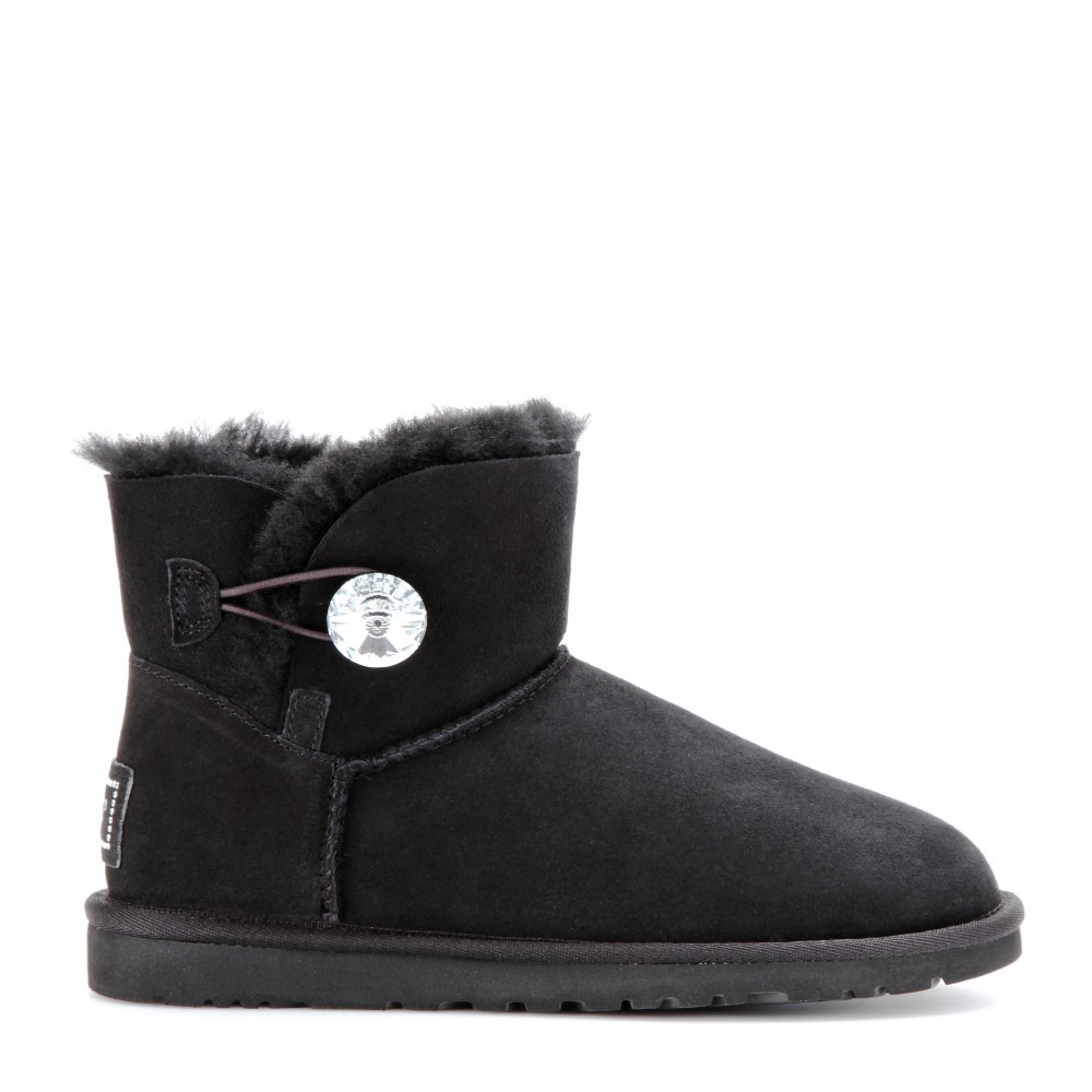Ugg Mini Bailey Button Bling Boots In Black Lyst