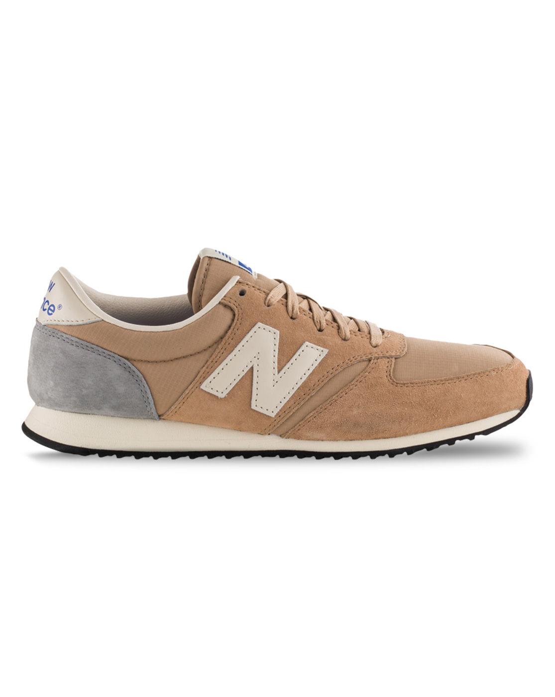 new balance u420 beige suede sneakers in brown for men beige lyst. Black Bedroom Furniture Sets. Home Design Ideas
