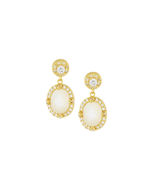 Freida Rothman Oval Iridescent Drop Earrings kz0ZYBh7N
