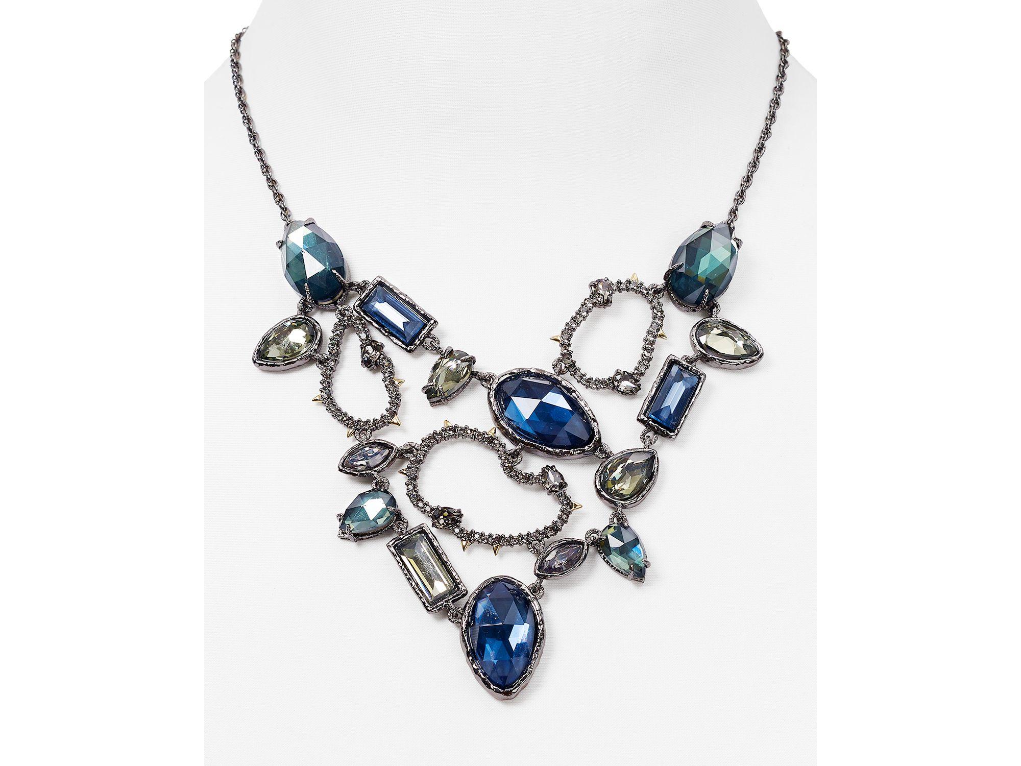 f2ebcbb8f7977 Alexis Bittar Black Elements Confetti Link Swarovski Crystal Bib Necklace,  16