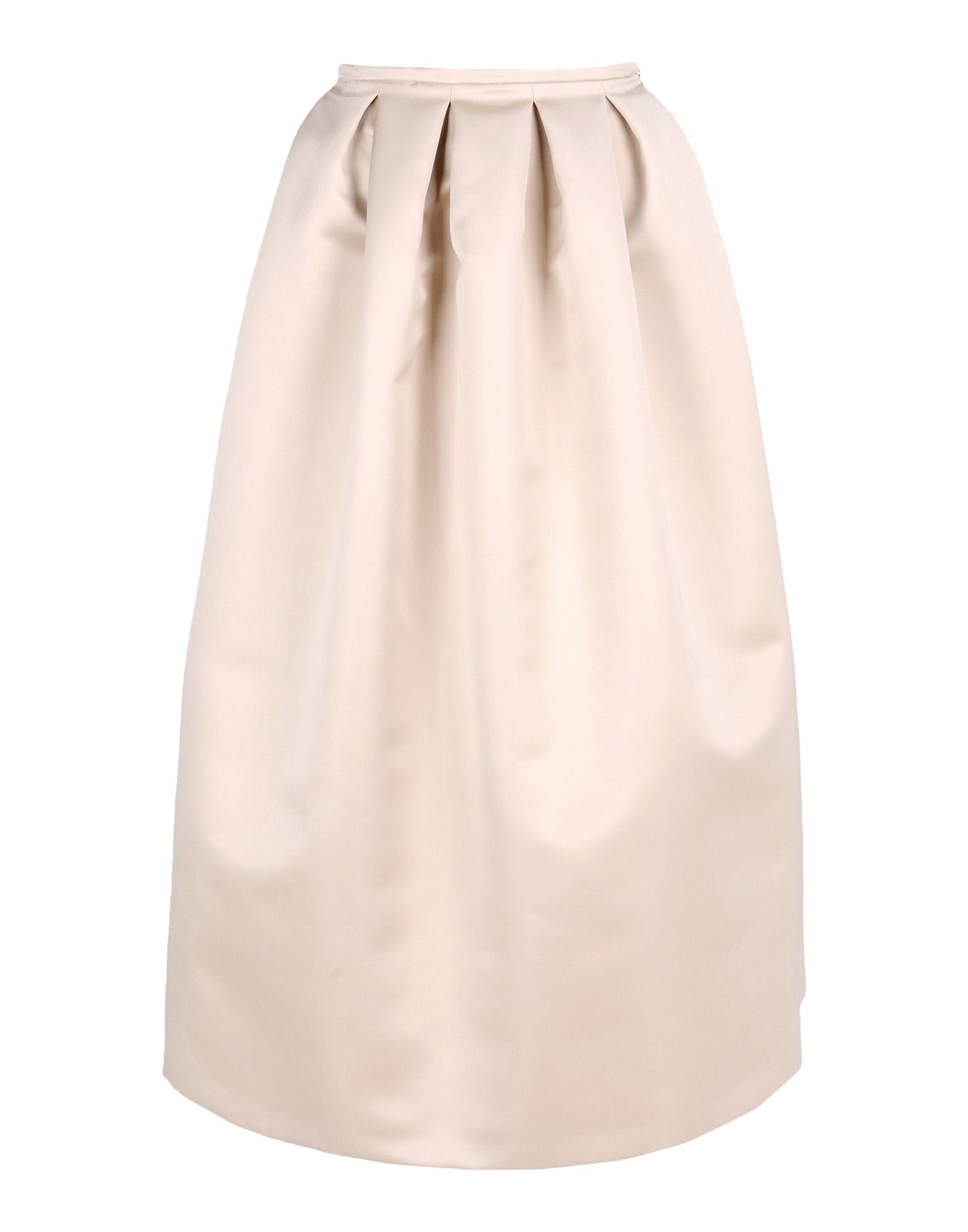Long Beige Skirt 85