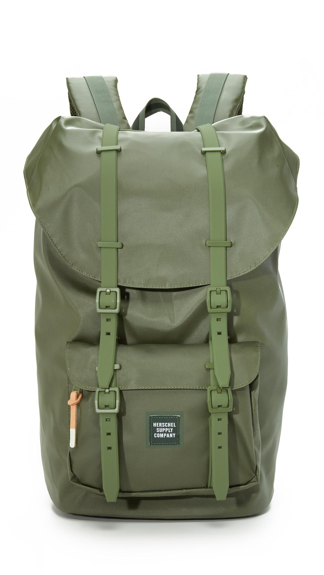 fbfbafdda91 Herschel Supply Co. Studio Little America Backpack in Green for Men ...