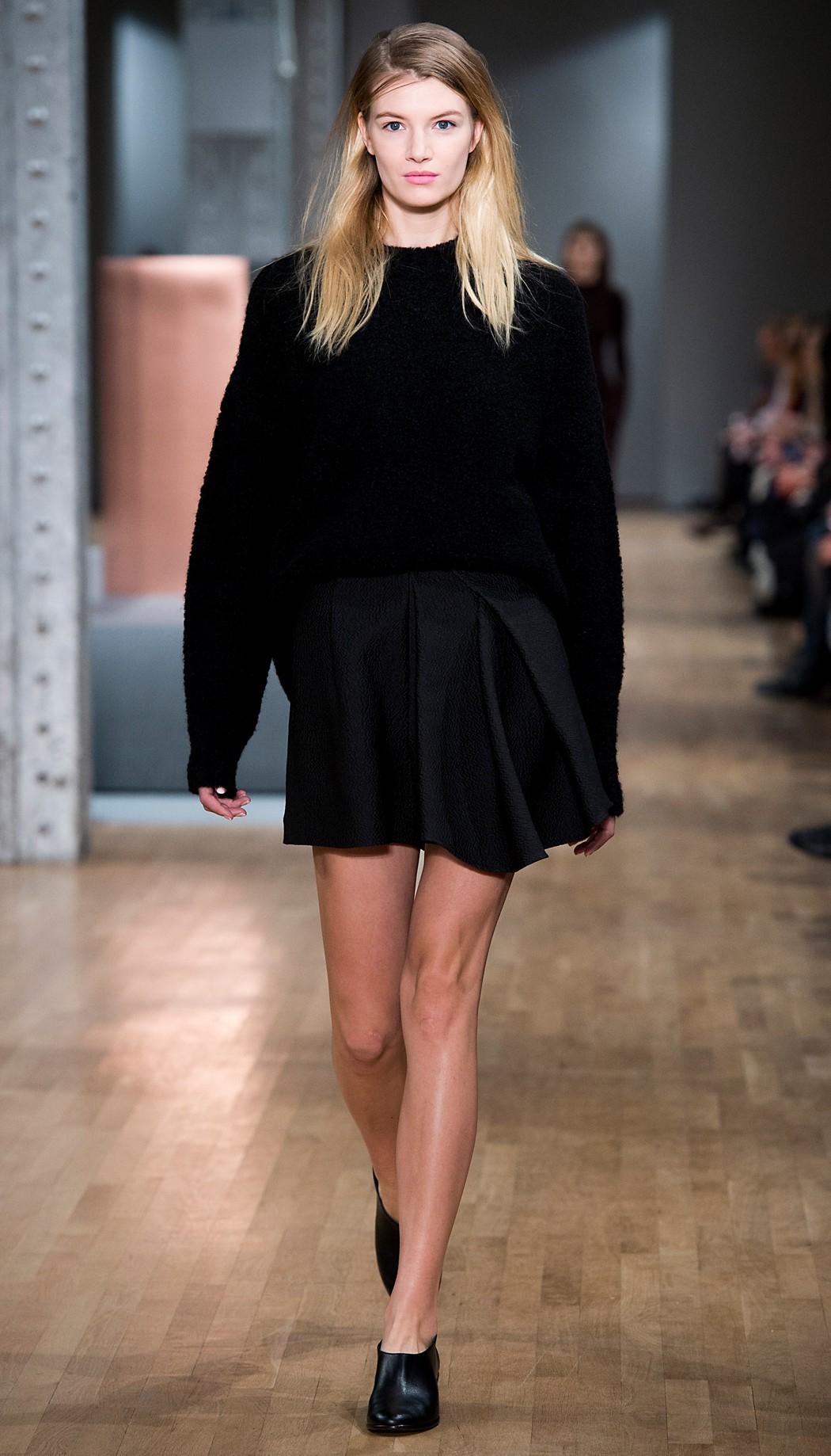 Tibi Leather Giada Booties in Black