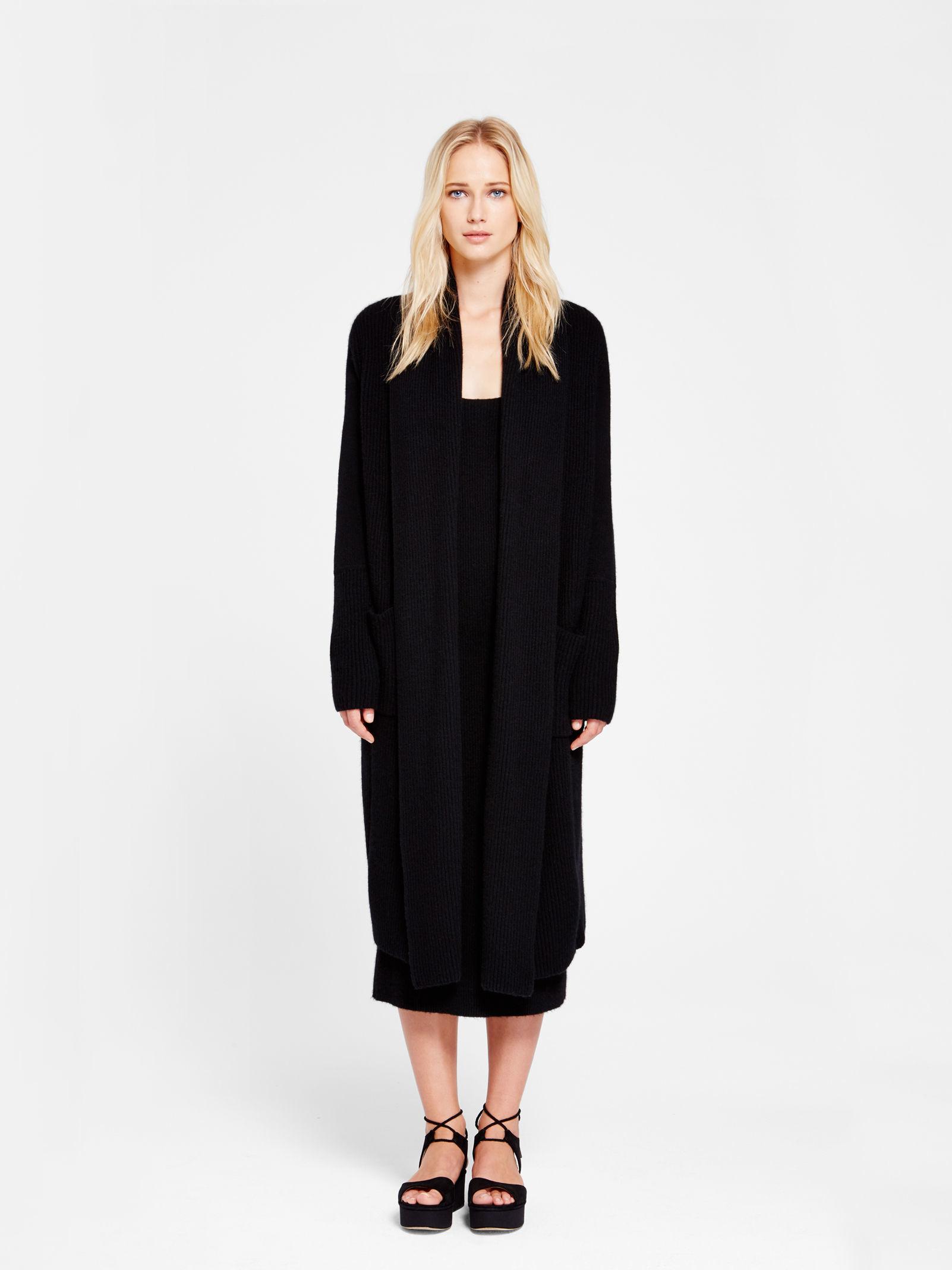 donna karan new york cashmere coat in black lyst. Black Bedroom Furniture Sets. Home Design Ideas