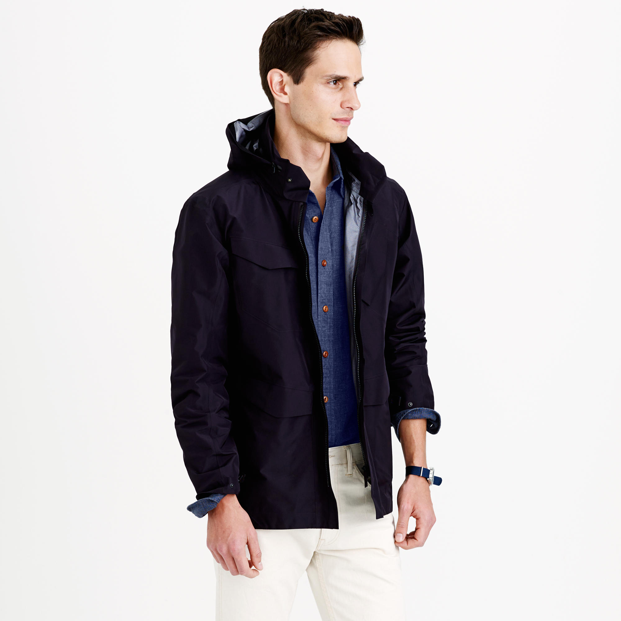 J Crew Arc Teryx Veilance Field Lt Jacket In Black For Men