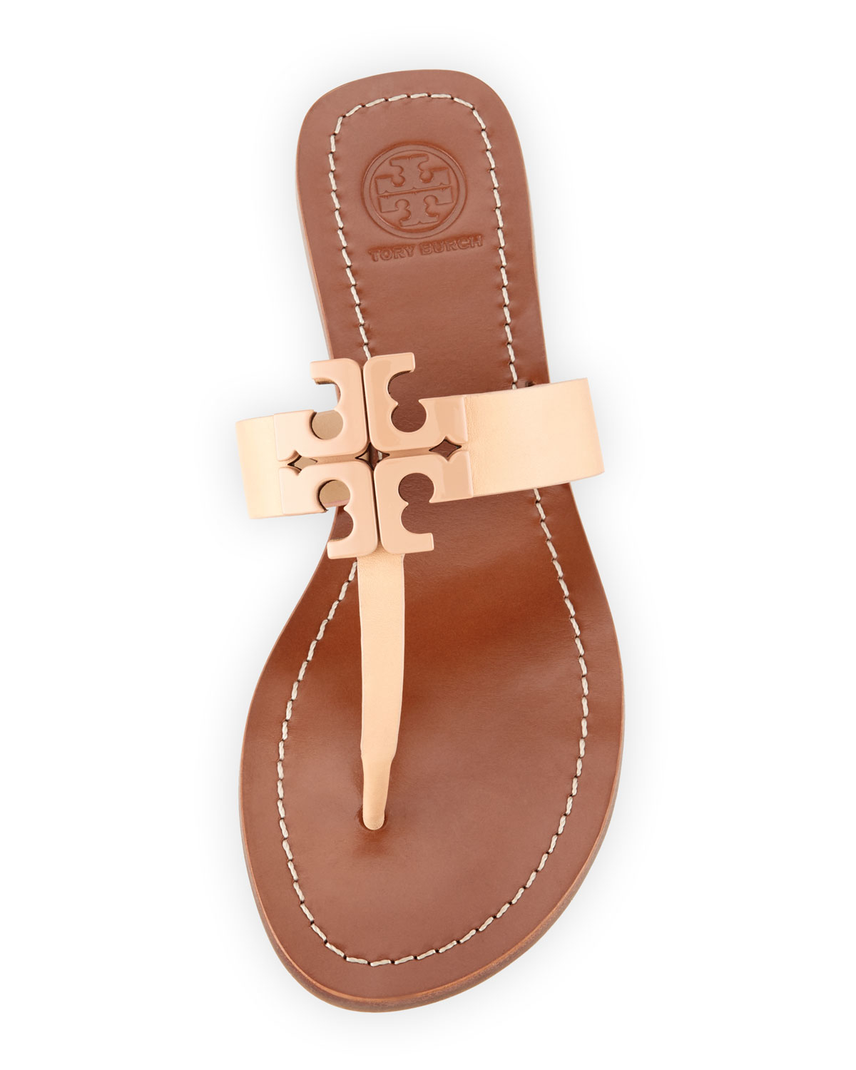 c82acb9468dc Lyst - Tory Burch Moore 2 Leather Thong Sandals in Natural