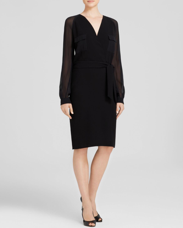 Max mara Dress - Pordoi Sheer Sleeve in Black - Lyst