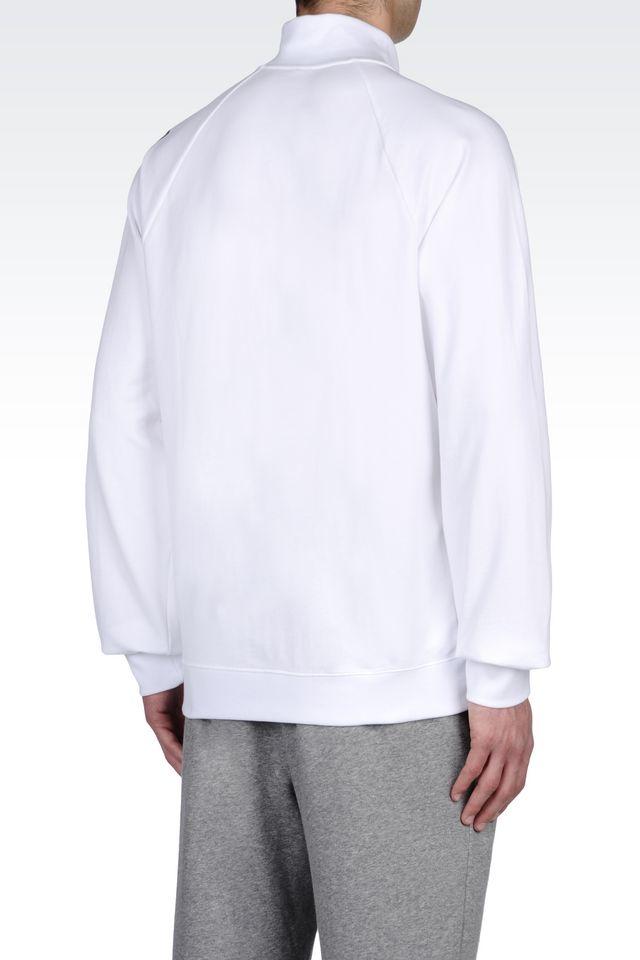 Lyst Ea7 Zip Sweatshirt In White For Men