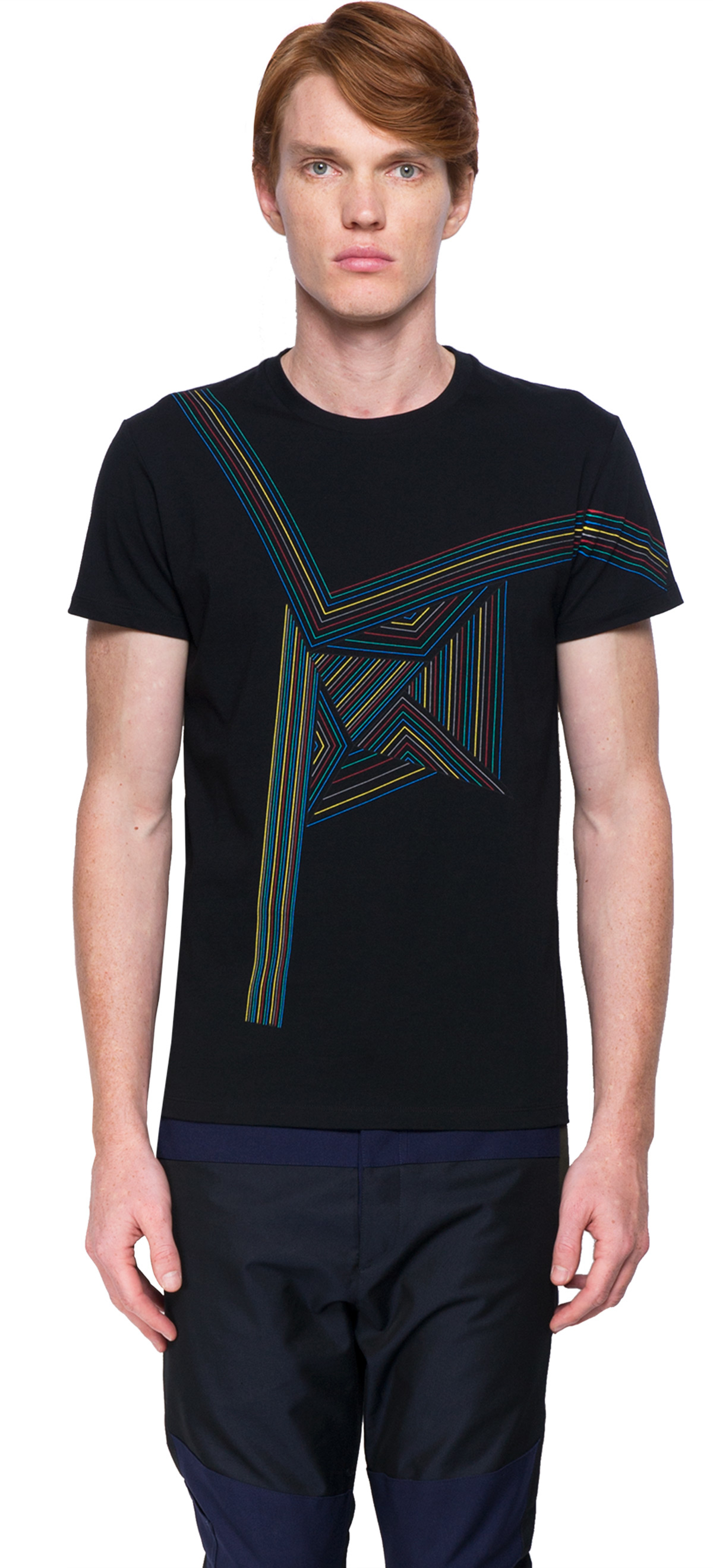 Jil sander short sleeves t shirt in black for men lyst for Jil sander mens shirt