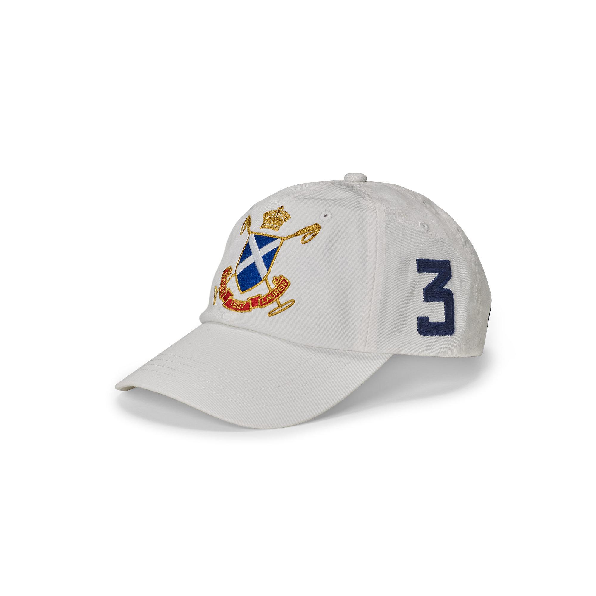 Lyst - Polo Ralph Lauren Blackwatch Cotton Baseball Cap in White for Men b6f370d857a6