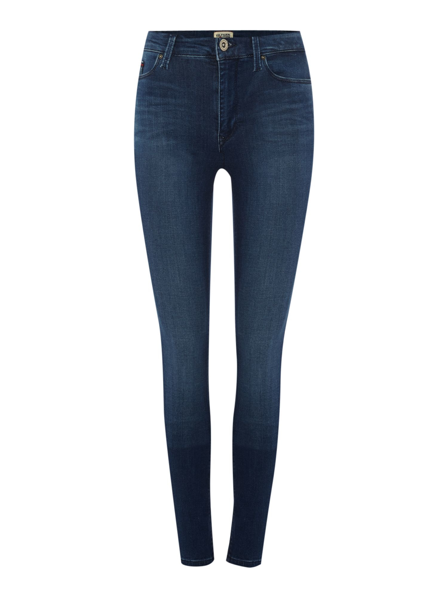 tommy hilfiger santana skinny fit jeans in blue lyst