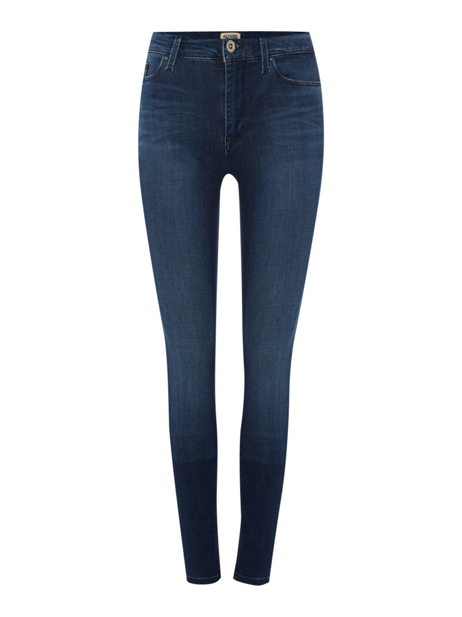 tommy hilfiger santana skinny fit jeans in blue lyst. Black Bedroom Furniture Sets. Home Design Ideas