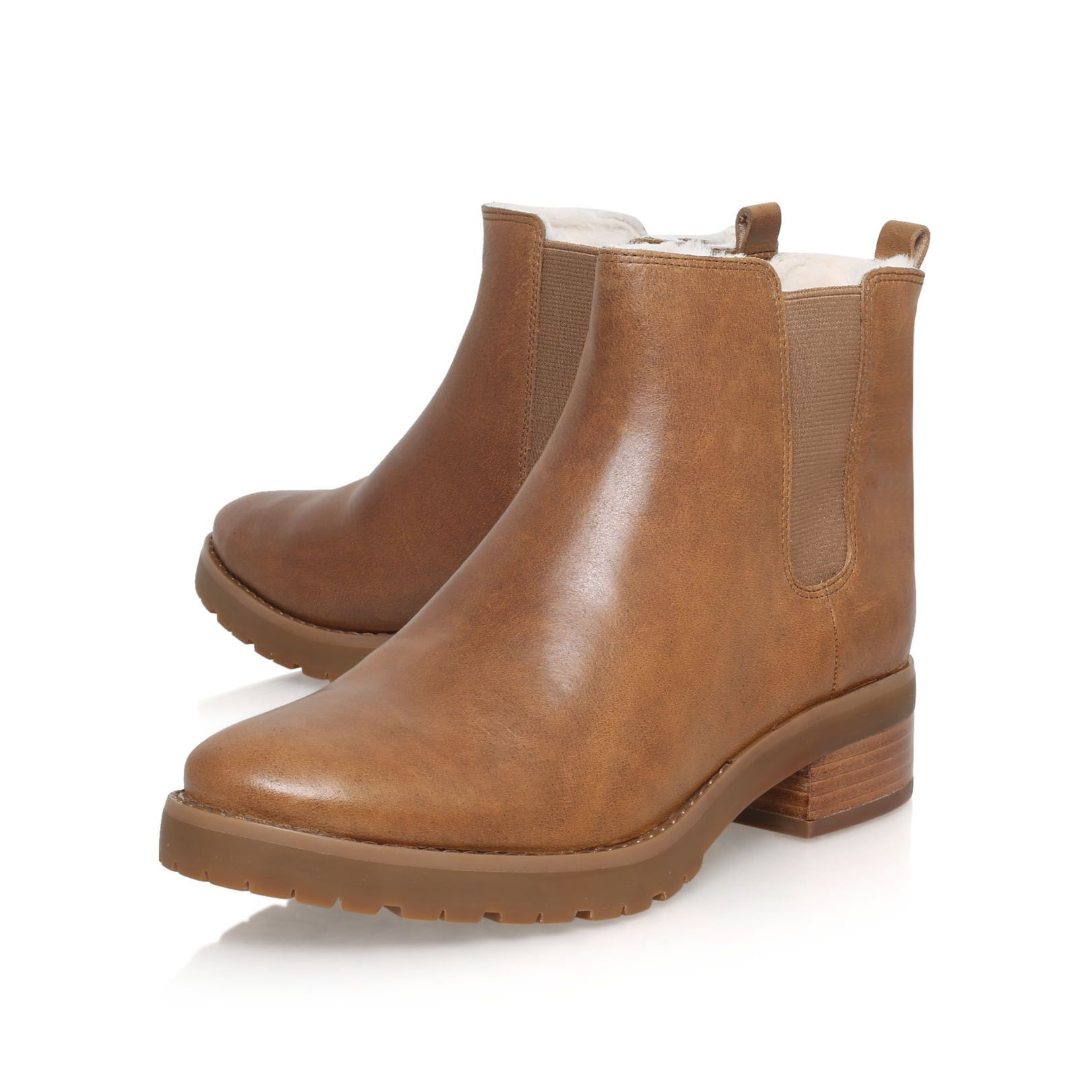 michael kors whitaker low heel ankle boots in brown lyst