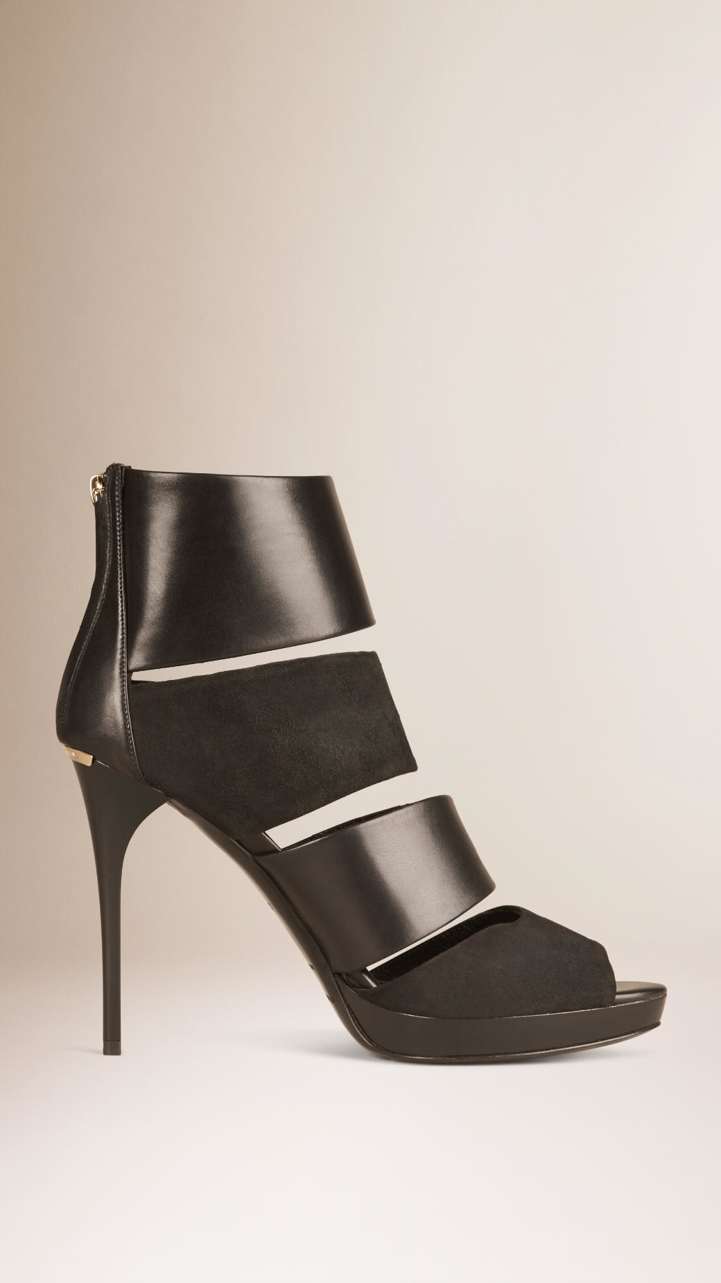 Burberry Leather Multistrap Ankle Boots 100% original jPjyNLiW