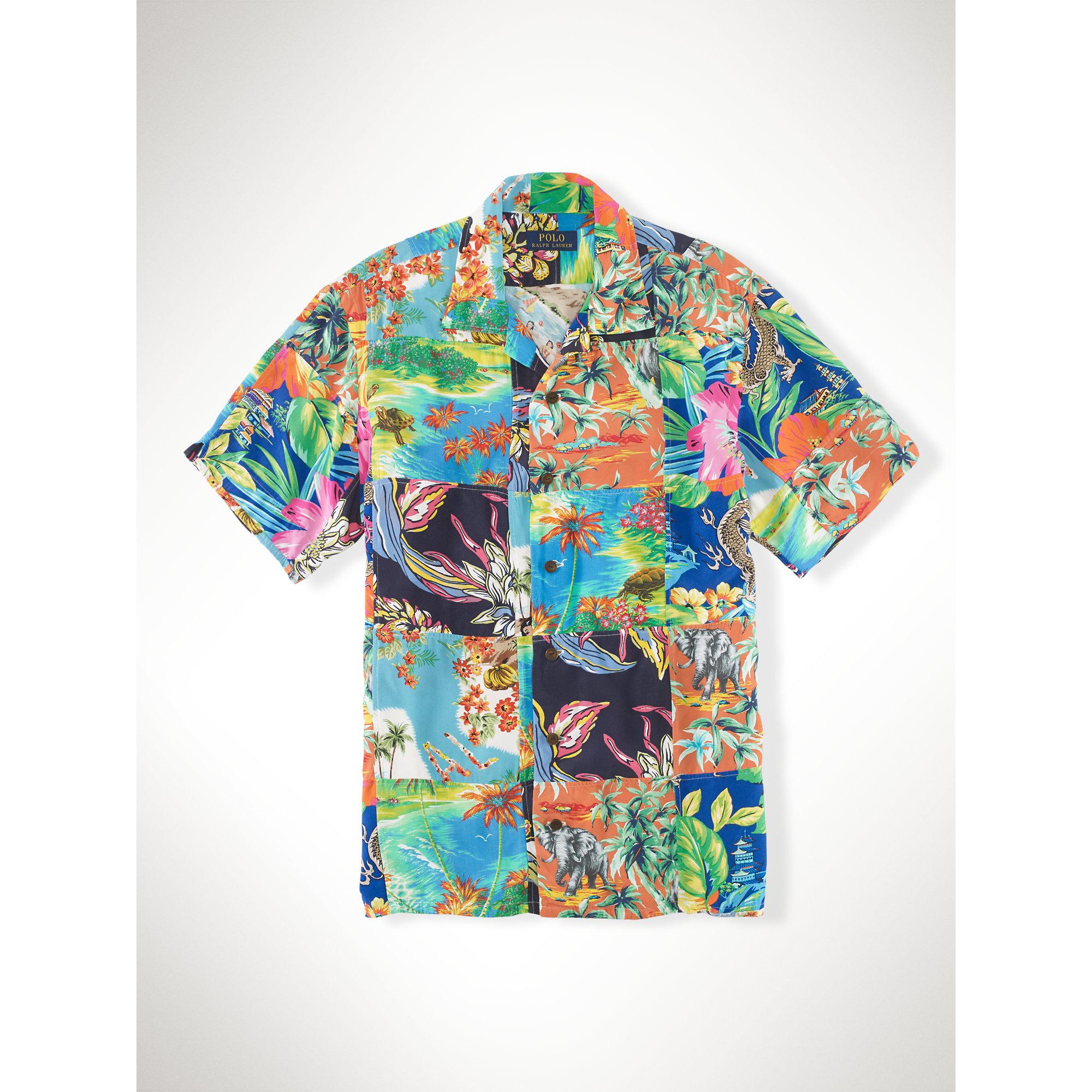 Lyst - Polo Ralph Lauren Hawaiian Patchwork Camp Shirt for Men eeb895b15000
