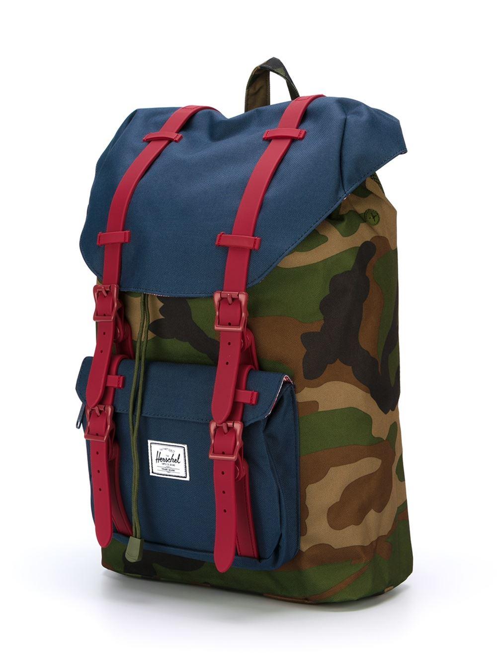 herschel supply co camouflage print backpack in green for men lyst. Black Bedroom Furniture Sets. Home Design Ideas