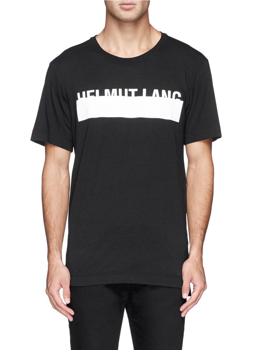 a748436d7fa18e Lyst - Helmut Lang Logo Band Print Tank Top in Black for Men