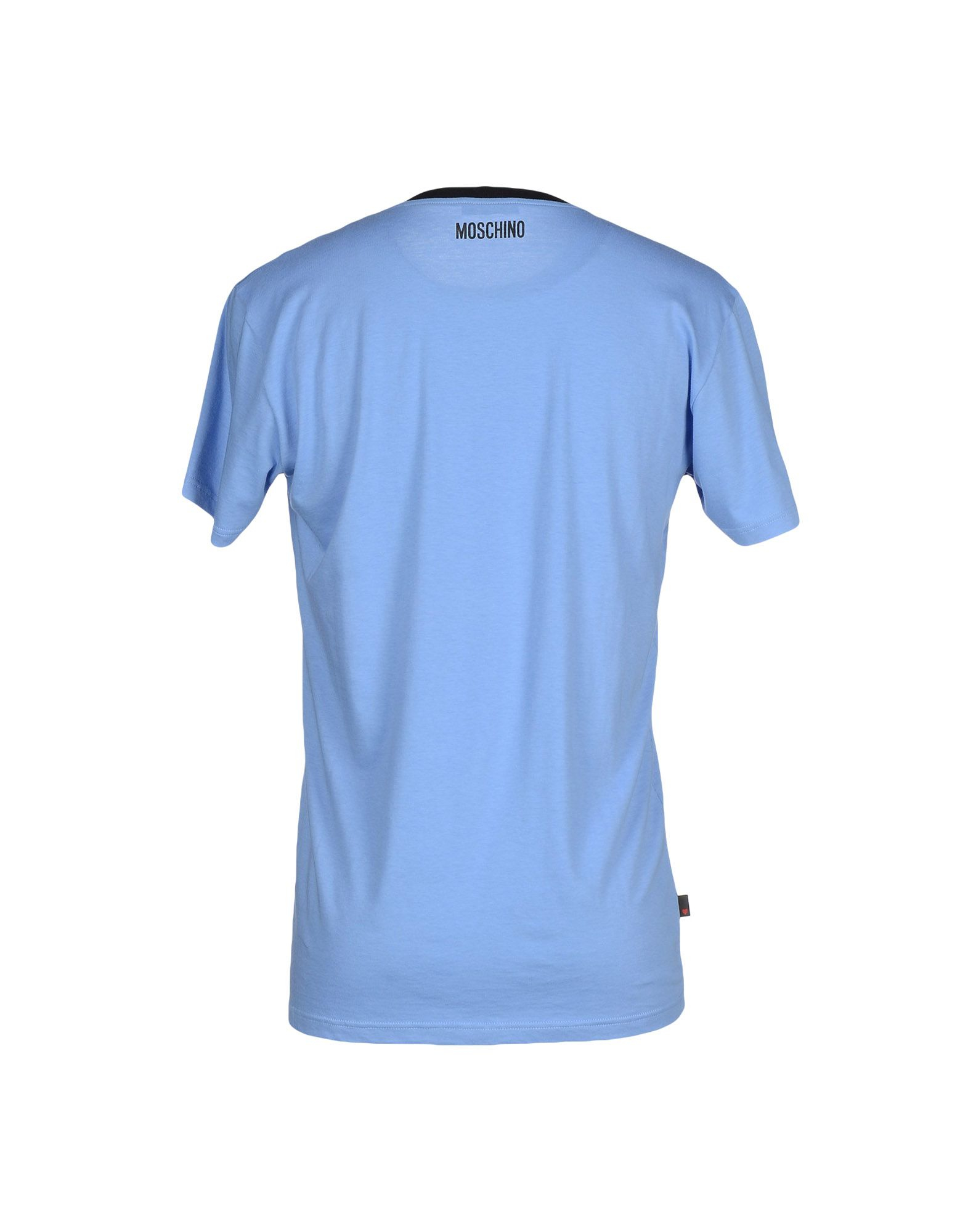 moschino t shirt in blue for men lyst. Black Bedroom Furniture Sets. Home Design Ideas