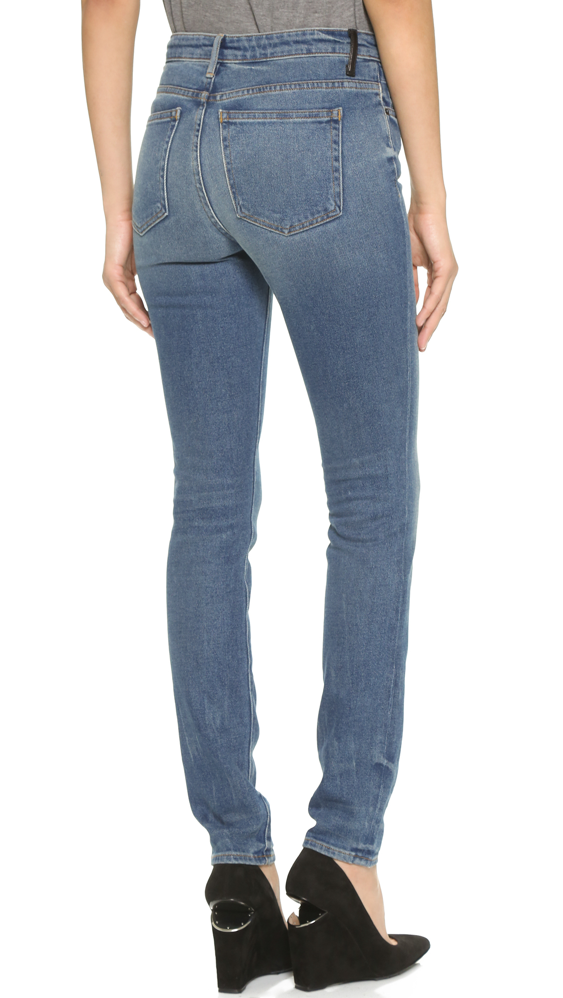 d92bc845c298 Lyst - Alexander Wang 001 Slim Fit High Rise Jeans in Blue