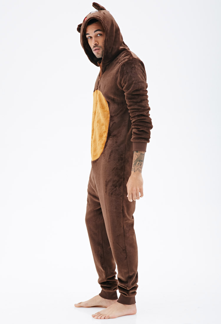 Forever 21 Plush Reindeer Jumpsuit In Brown For Men Lyst