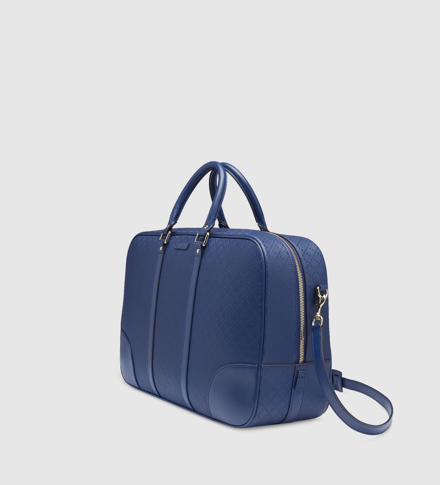 ce65ba3f952 Gucci Bright Diamante Leather Duffle Bag in Blue for Men - Lyst