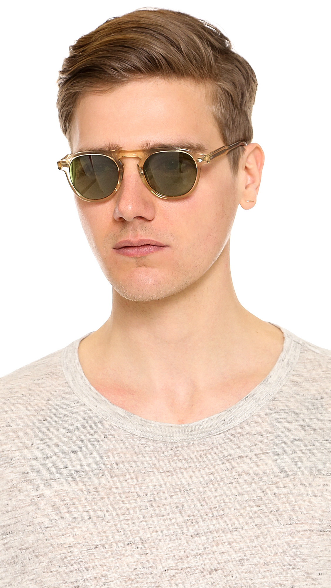 Garrett Leight Harding Sunglasses In Natural For Men Lyst