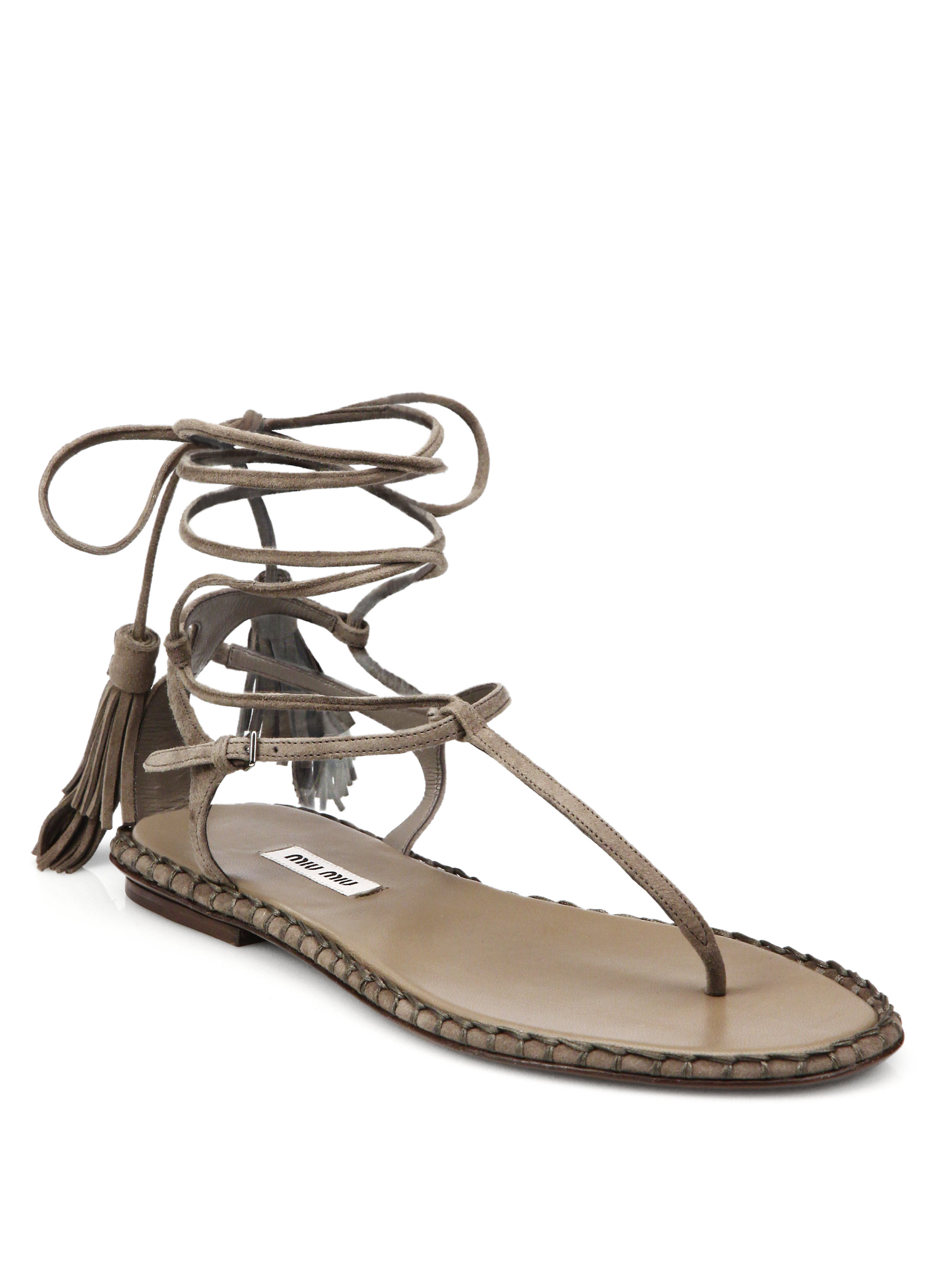cheap outlet Miu Miu Leather Thong Sandals outlet with paypal order free shipping 100% original big sale online fashionable cheap online YYAZ7pn