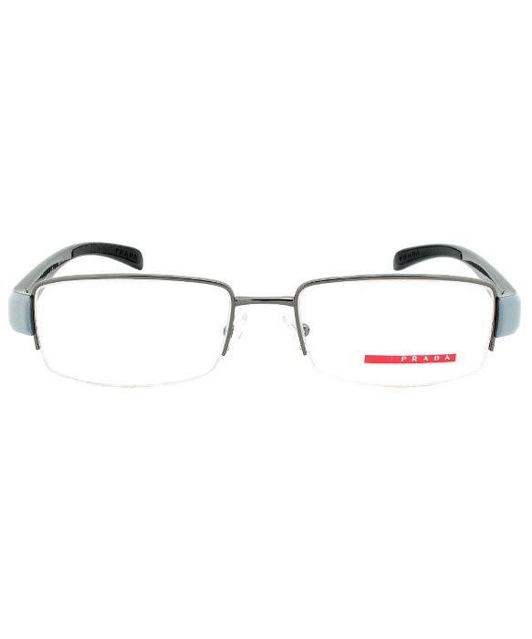 Eyeglass Frame Size 55 : Prada Eyeglass Frames Vps 55a Jaq-1o1 Gunmetal Grey ...