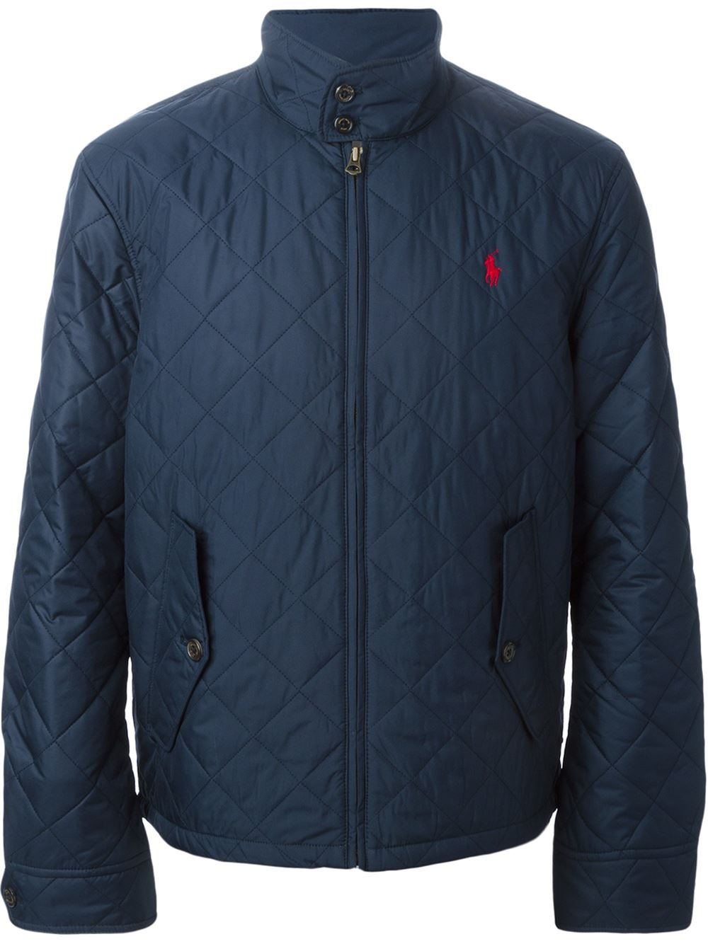 polo ralph lauren quilted jacket in blue for men lyst. Black Bedroom Furniture Sets. Home Design Ideas