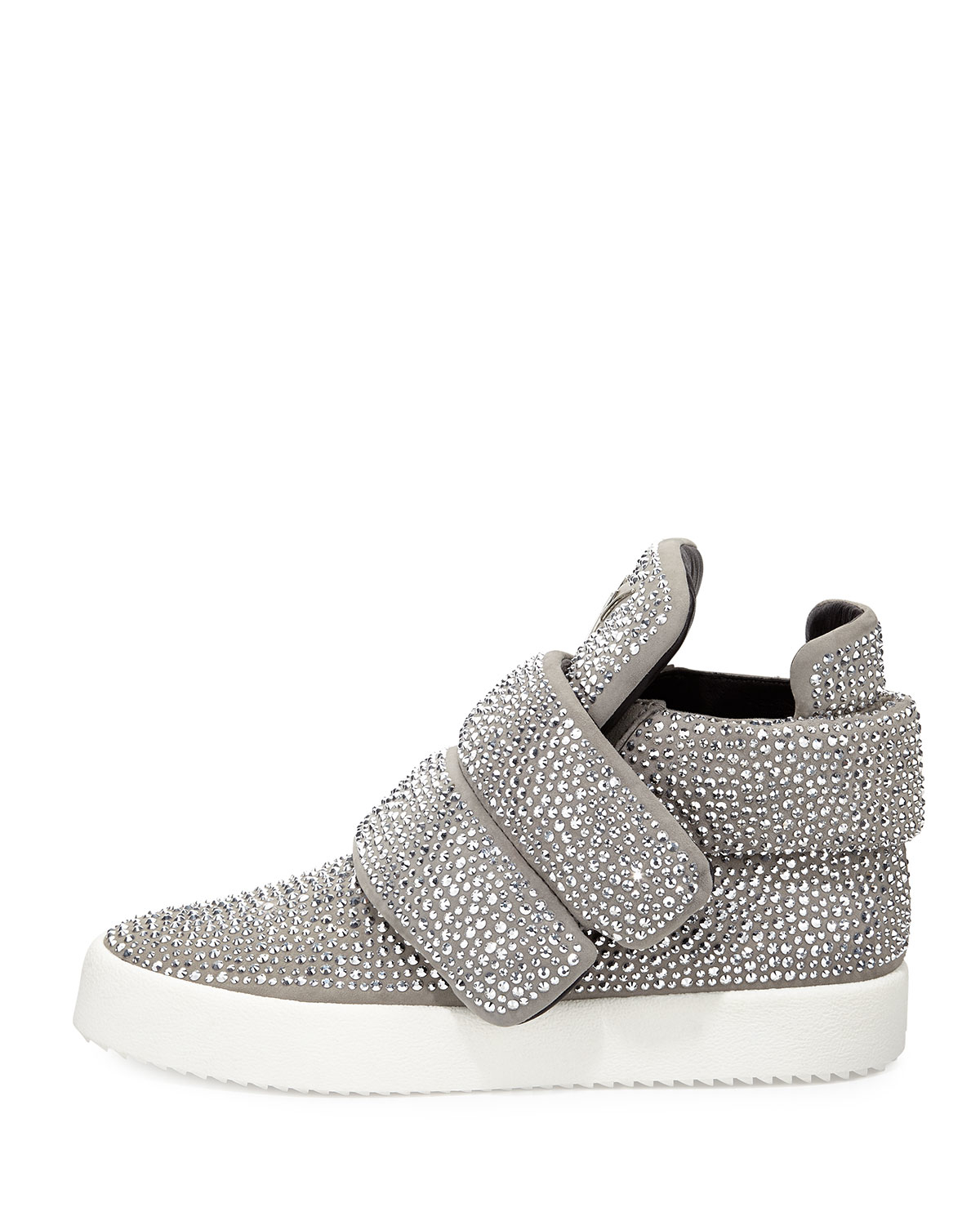 giuseppe zanotti crystal embellished high top sneakers in metallic for men lyst. Black Bedroom Furniture Sets. Home Design Ideas