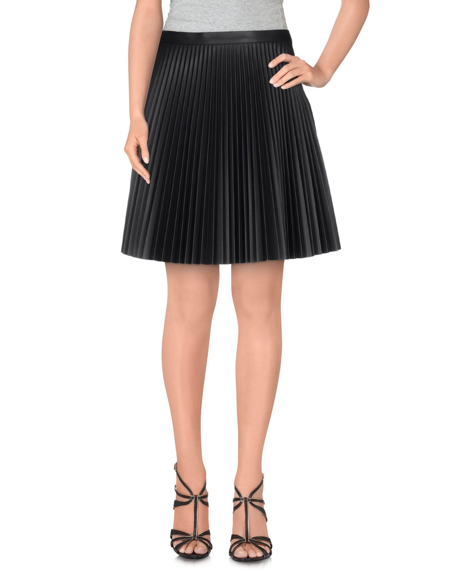 amen knee length skirt in black lyst